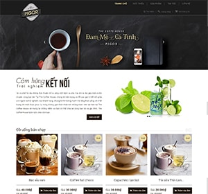 Bán cafe, thiết kế website coffe