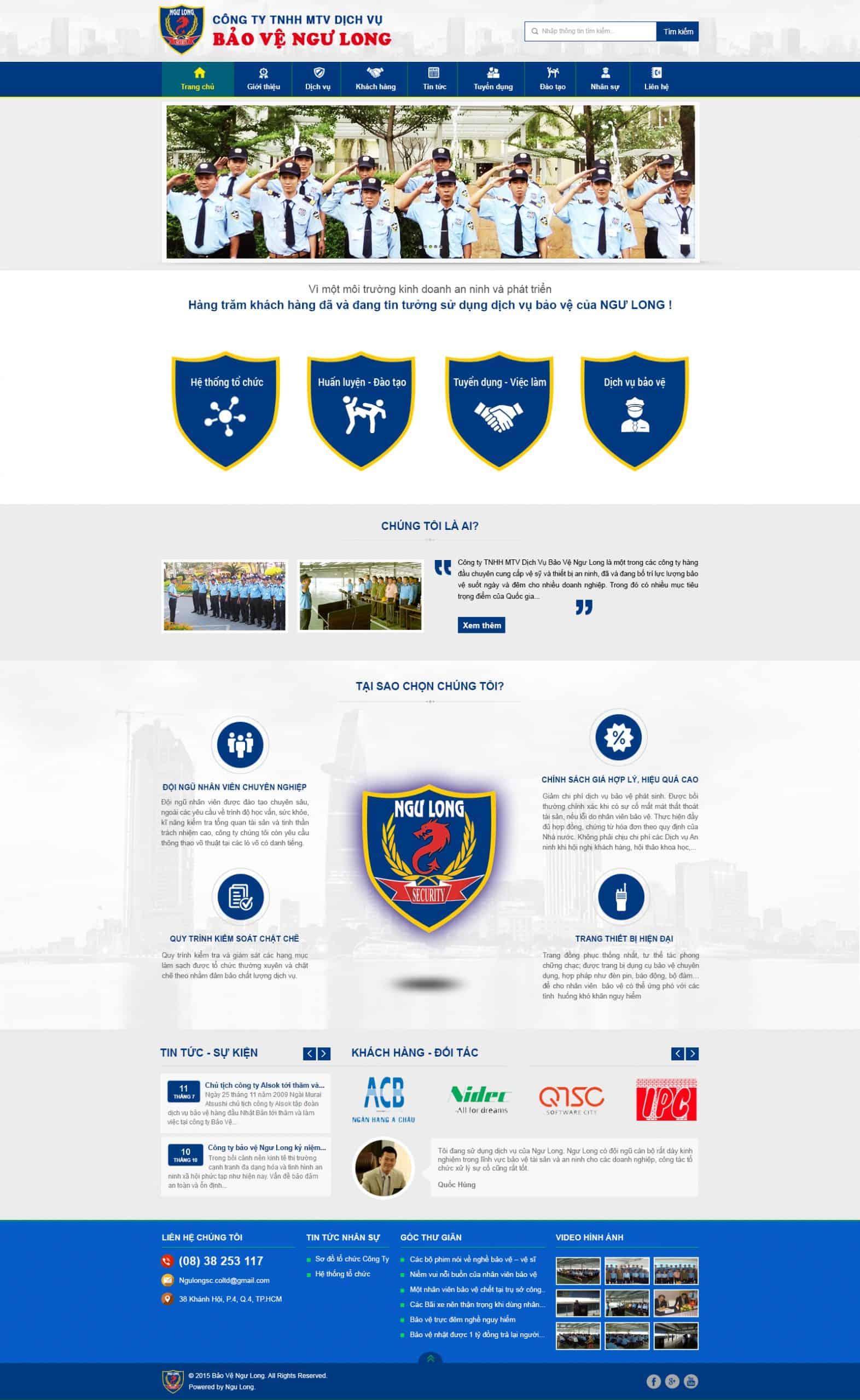 Thiết kế website Thiết kế website dịch vụ bao ve ngu long