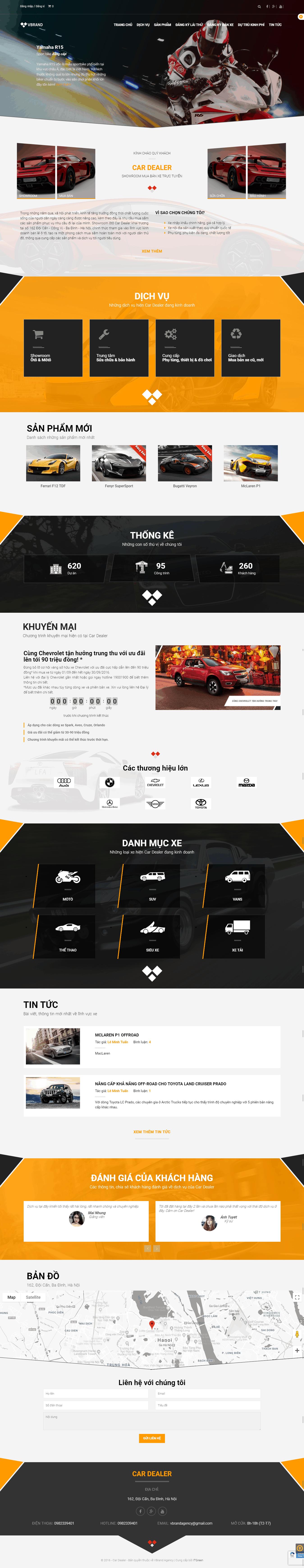 Thiết kế website Thiết kế website bán ô tô, xe máy Car Dealer