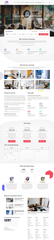 Thiết kế website Thiết kế website du lịch Rose Homestay