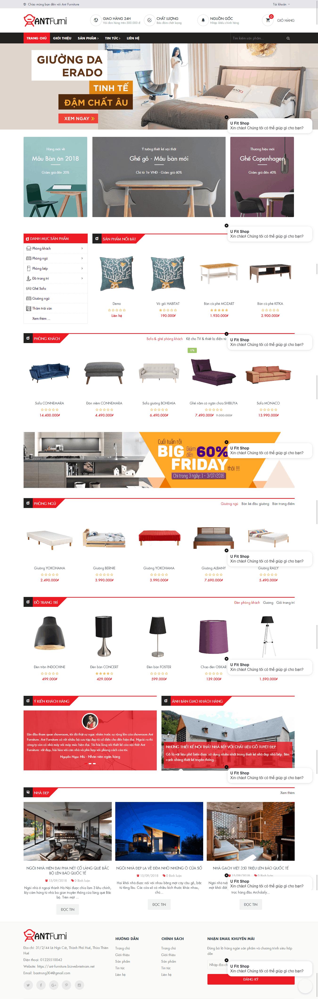Thiết kế website Thiết kế website kiến trúc, nội thất, xây dựng Ant Furniture