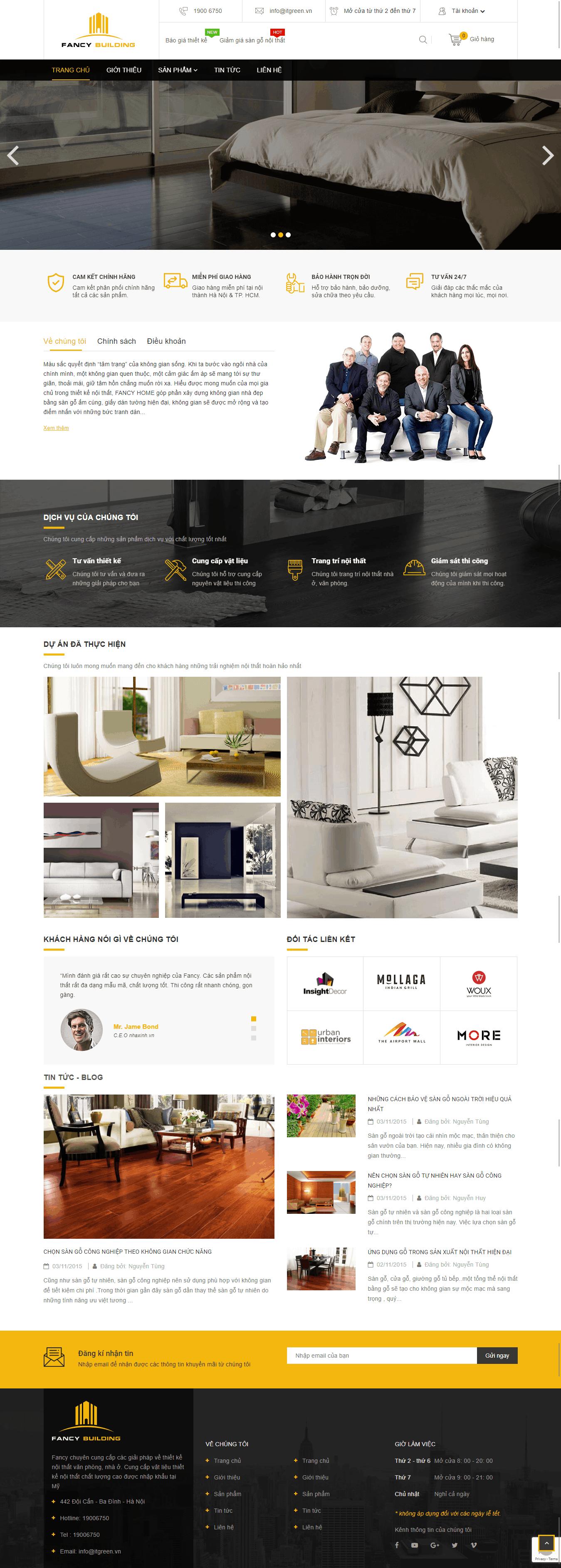 Thiết kế website Thiết kế website kiến trúc, nội thất, xây dựng Fancy