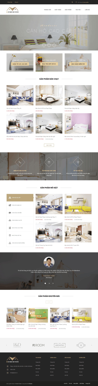Thiết kế website Thiết kế website kiến trúc, nội thất, xây dựng Mendover