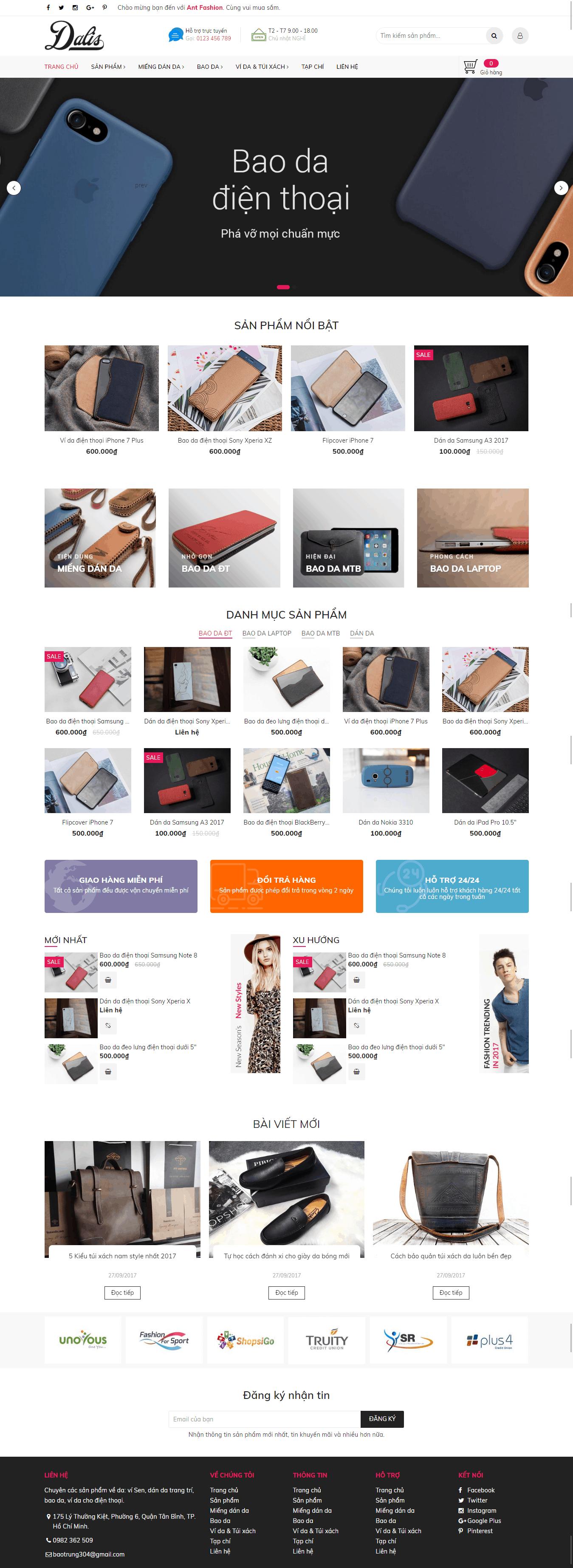 Thiết kế website Thiết kế website sản phẩm Ant Fashion