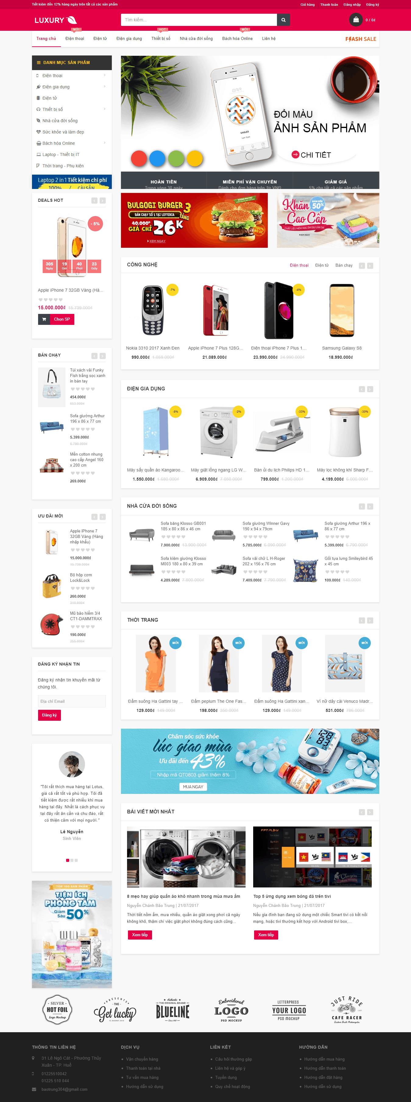 Thiết kế website Thiết kế website sản phẩm Ant Luxury