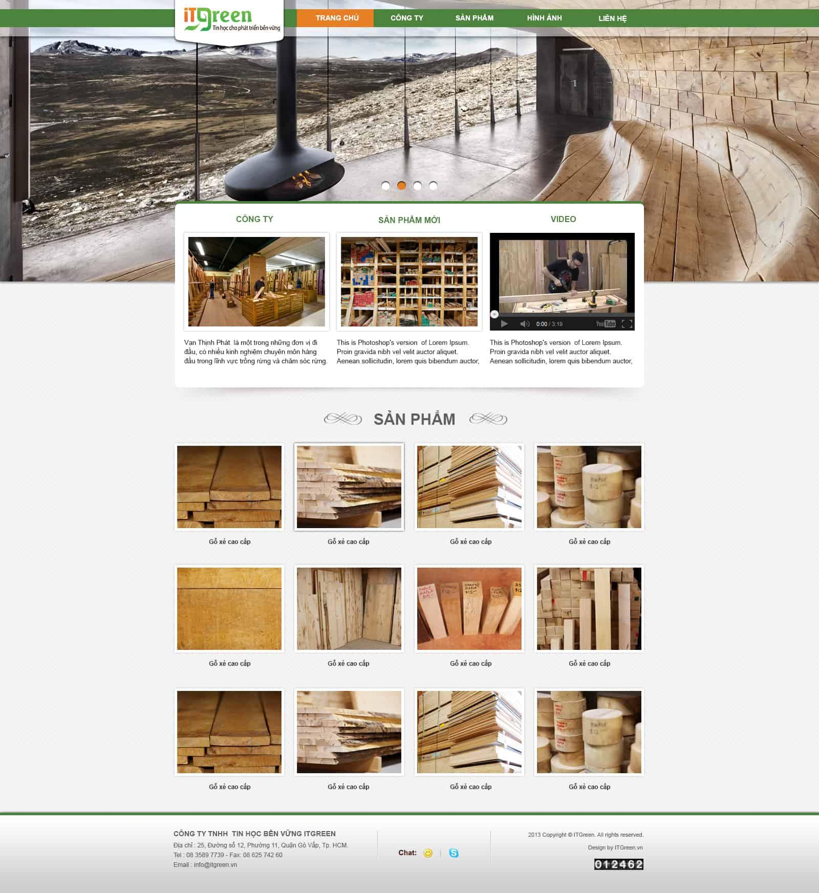 Thiết kế website Thiết kế website sản phẩm do go noi that