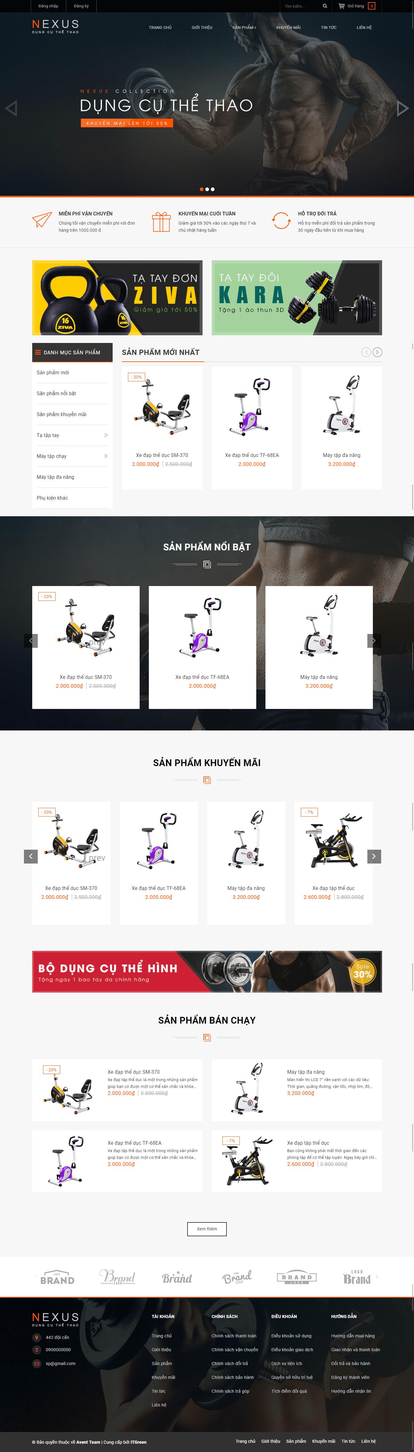 Thiết kế website Thiết kế website sản phẩm Nexus