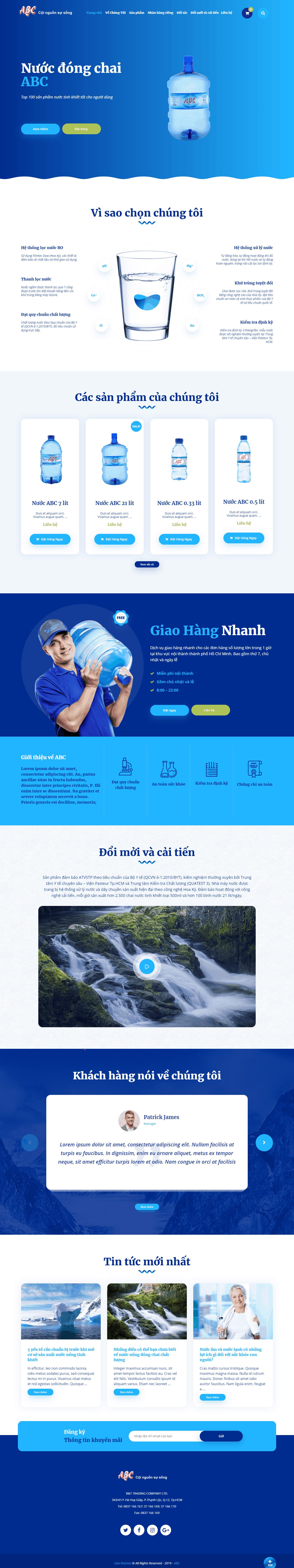 Thiết kế website Thiết kế website sản phẩm nuoc acb