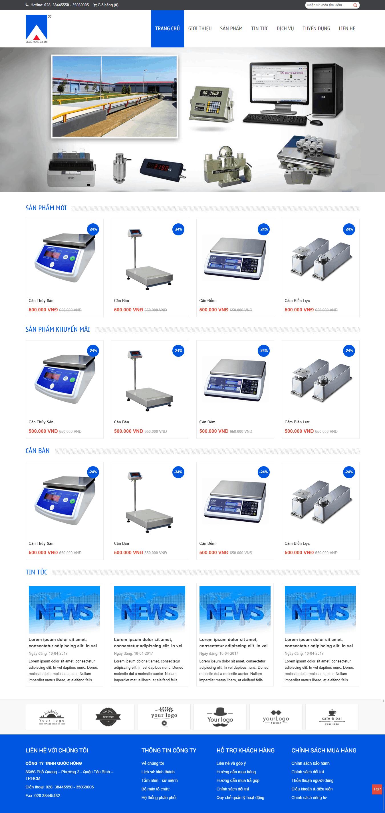 Thiết kế website Thiết kế website sản phẩm Sunmax