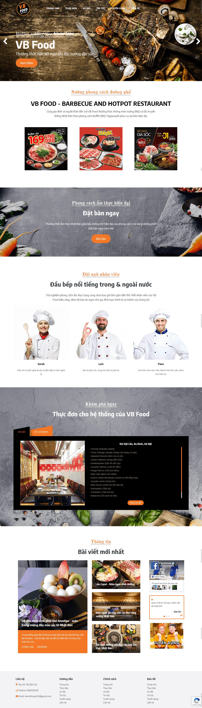 Thiết kế website Thiết kế website shop hoa, quà tặng VB Restaurant