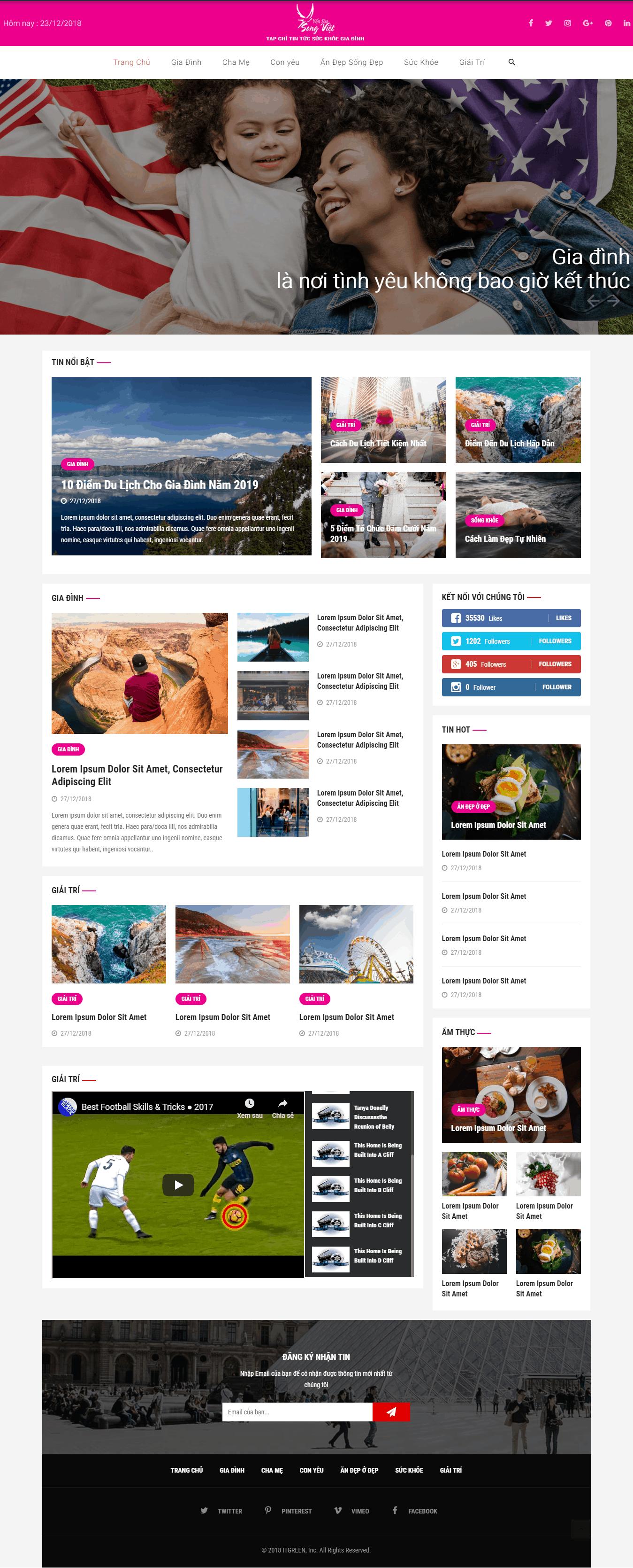 Thiết kế website Thiết kế website tin tức, tạp chí suc khoe