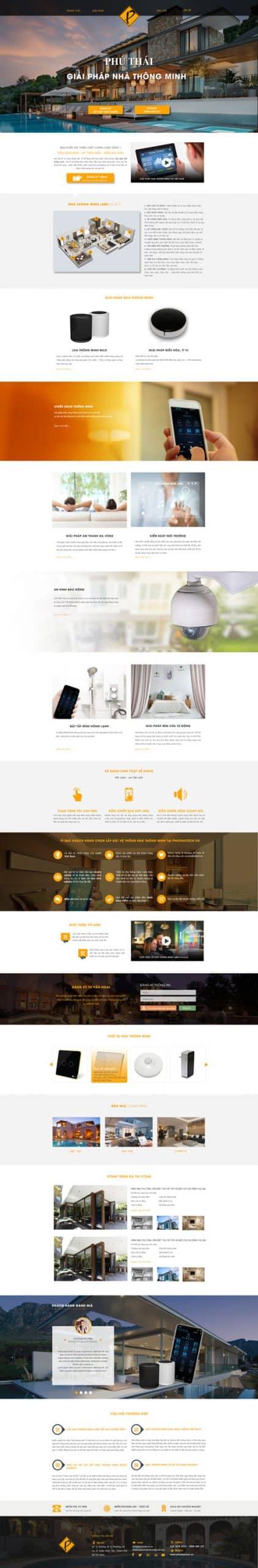 Thiết kế website LDP nhà thông minh LUMI