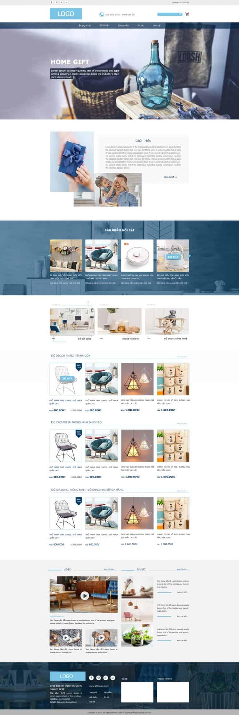 Thiết kế website Bán đồ dùng tiện ích