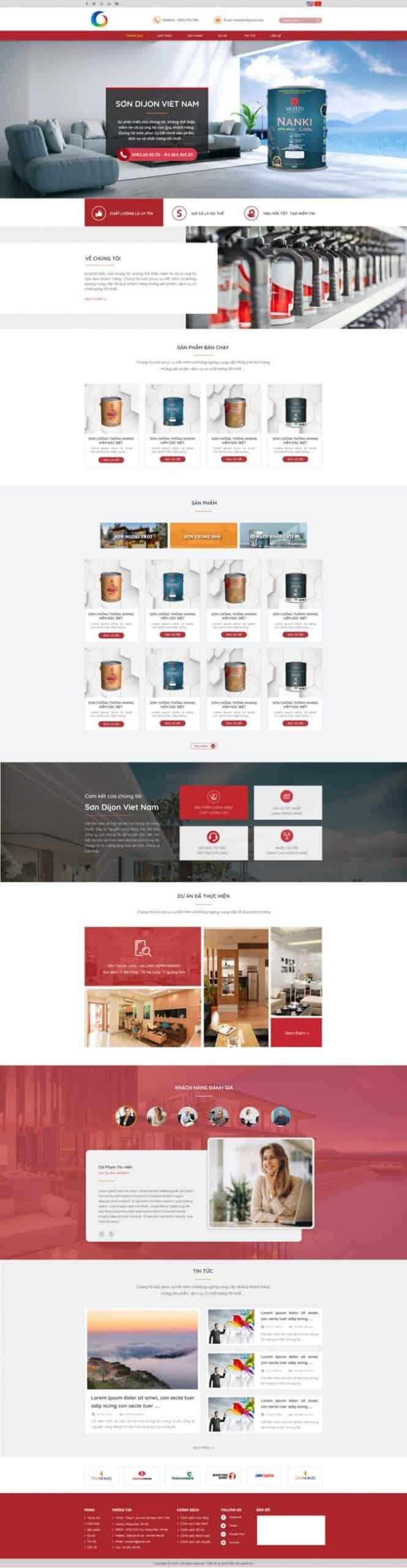 Thiết kế website Công ty sơn Dijon