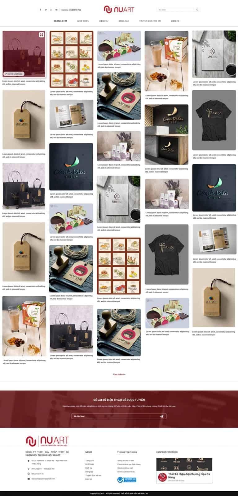 Thiết kế website Công ty thiết kế Nuart