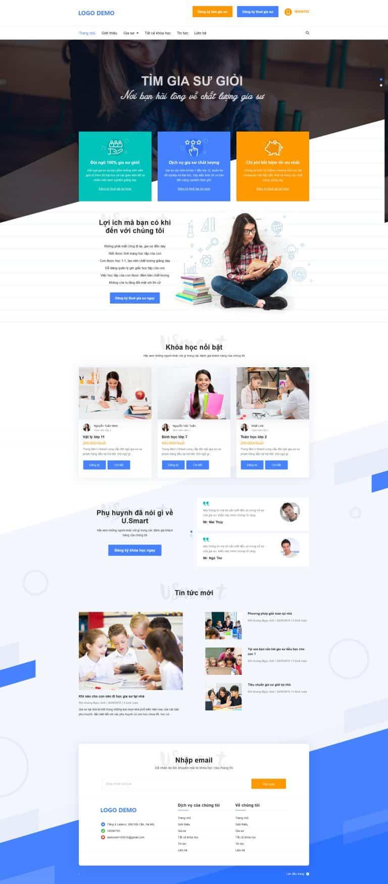 Thiết kế website Giao sư