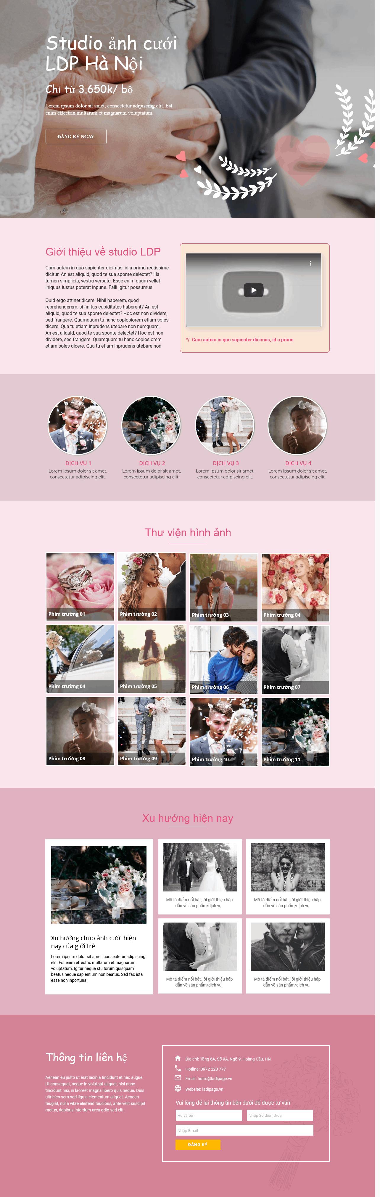 Thiết kế website Thiết kế webiste landingpage gioi-thieu-thuong-hieu---cong-ty Cưới, Nhiếp Ảnh 05